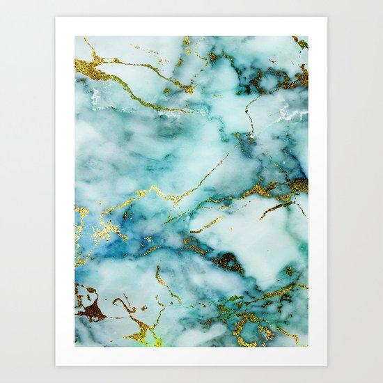 Marble Effect #1 Art Print