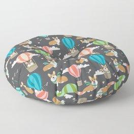 Corgis in Hot Air Balloons - cute dog design Floor Pillow