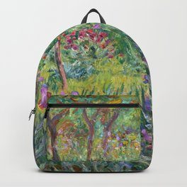 The Iris Garden at Giverny by Claude Monet Backpack