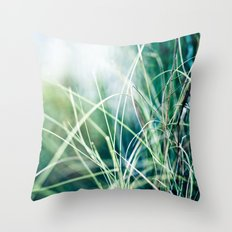 Angel Grass Throw Pillow