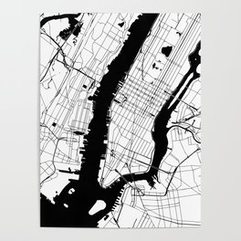 New York City Minimal Map Poster