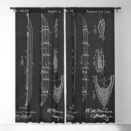 Kayak Boat Patent 1896 Blackout Curtain