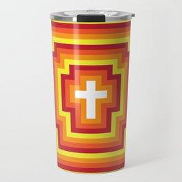 Technicolour Cross - Orange Travel Mug