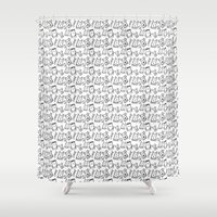 puppies Shower Curtains featuring Puppies, kittens, cats, dogs & them! by rob art | simple
