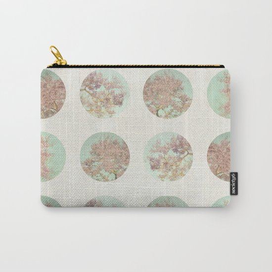Pink Tree Polka Dots Carry-All Pouch