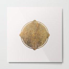 Gold Squircle Metal Print