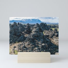 Dimmuborgir lava field, Myvatn area - Iceland Mini Art Print