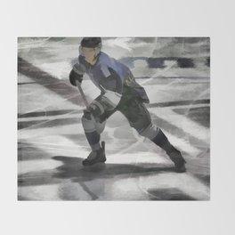 Let's Go! - Ice Hockey Player Throw Blanket