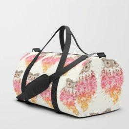 Orange Dream Catcher Duffle Bag