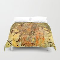 cracked Duvet Covers featuring Cracked Wall by Tami Cudahy