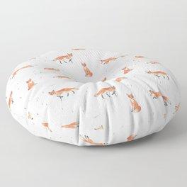 Winter Fox Floor Pillow