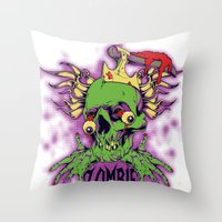 dramatical murder Throw Pillows featuring Murder by Tshirt-Factory