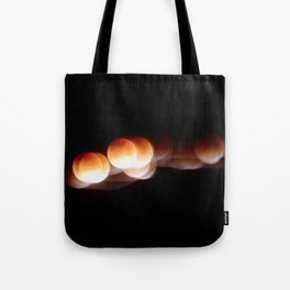 Super Blue Blood Moon Trails Tote Bag