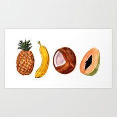 Exotic Fruits Art Print