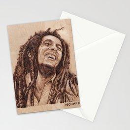 Bob 420 Marley - wood burning / pyrography drawing Stationery Cards