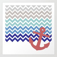 nautical Art Prints featuring Nautical  by emain