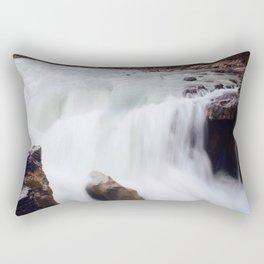 Athabasca falls exposure Rectangular Pillow