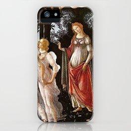 Primavera Painting by Sandro Botticelli iPhone Case