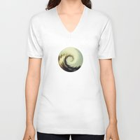 wave V-neck T-shirts featuring Wave by matt market
