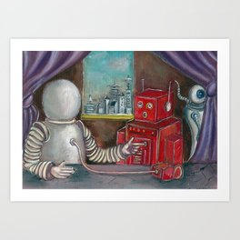 Robo Relations Art Print