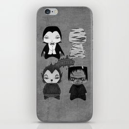 A Boy - Universal Monsters Black & White édition iPhone Skin