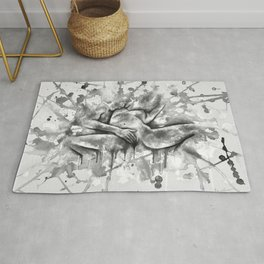Colorful Climax b&w Rug