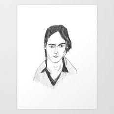 Johnny Depp Pencil drawing Art Print
