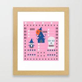 Fantastic Halloween in pink Framed Art Print