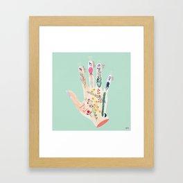 Botanical palmistry Framed Art Print