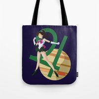 sailor jupiter Tote Bags featuring Sailor Jupiter by InsertCreativeTitle