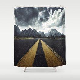 grand teton national park road Shower Curtain
