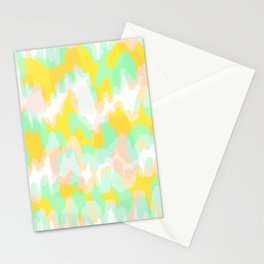 Lara - Chartreuse and mint abstract art Stationery Cards