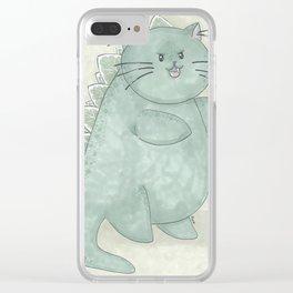 Catzilla! Clear iPhone Case