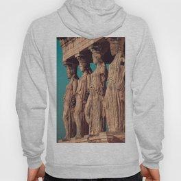 Caryatids of the Erectheum, ancient greek, Agora of Athens, Erectheum, Greece photography, Athens Acropolis Hoody