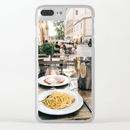 Dinner in Rome Clear iPhone Case