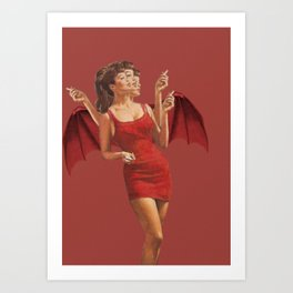 Cigarette Break Art Print