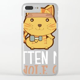 Kitten My Swole On Cat print, Gym product, Workout graphic Clear iPhone Case