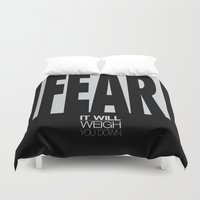 fear Duvet Covers featuring Fear by Kevin Kidwell