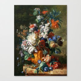 "Jan van Huysum ""Bouquet of Flowers in an Urn"" Canvas Print"