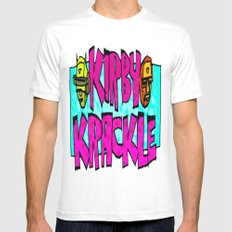 Kirby Krackle - 2016 Logo White MEDIUM Mens Fitted Tee