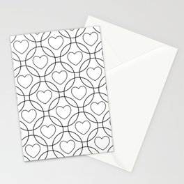 Decor with circles and hearts Stationery Cards