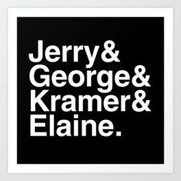 Seinfeld Jetset Art Print