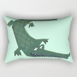 Snappy vintage Crocodile Rectangular Pillow