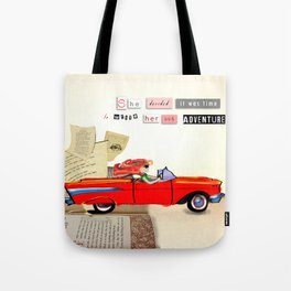 Red Riding Hood Hits the Road Tote Bag