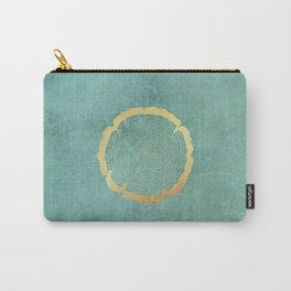 Gold Foil Tree Ring Carry-All Pouch
