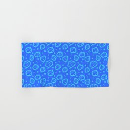 Amoeba Print, Blue on Blue Hand & Bath Towel