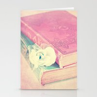 books Stationery Cards featuring BOOKS by INA Artist