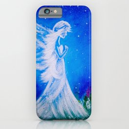 Angel at night  iPhone Case