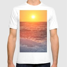 Rolling Wave MEDIUM White Mens Fitted Tee