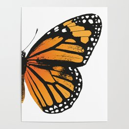 Monarch Butterfly | Right Butterfly Wing | Vintage Butterflies | Poster